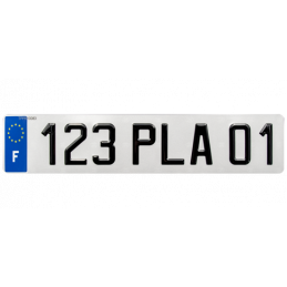 Plaque immatriculation FNI...