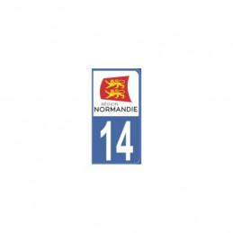 AUTOCOLLANT DEPARTEMENT 14