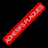 Adhésifs plaques